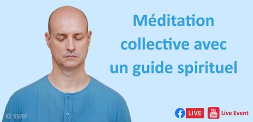 Méditation collective avec un guide spirituel