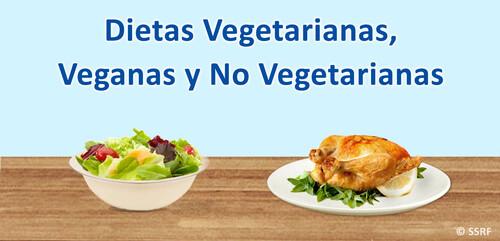 Dietas Vegetarianas, Veganas y No Vegetarianas